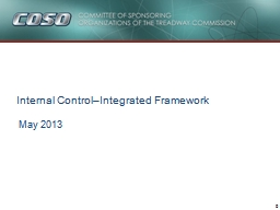 May 2013 Internal Control–Integrated Framework