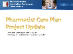 Pharmacy Health Information Technology Collaborative