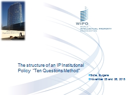 The  structure of an IP Institutional