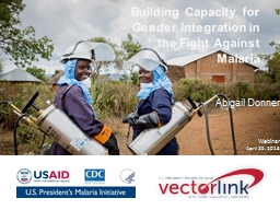 Building Capacity for Gender Integration in the
