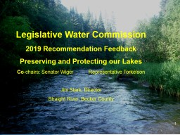 1 Legislative Water Commission