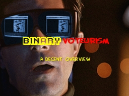 Binary   voyeurism A  decent