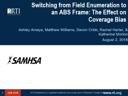 Switching from Field Enumeration to an ABS Frame: The Effect on Coverage Bias