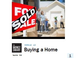 Buying a Home Module 13 September 2018