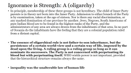 Ignorance is Strength: A (oligarchy)