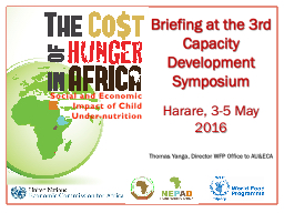 Briefing at the 3rd Capacity Development Symposium