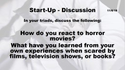 Start-Up - Discussion In your triads, discuss the following: PowerPoint PPT Presentation