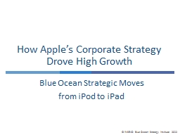 How Apple�s Corporate Strategy Drove High Growth