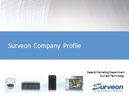 Surveon Company Profile Sales