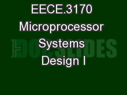 EECE.3170 Microprocessor Systems Design I