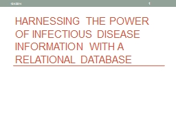 Harnessing the power of Infectious disease information with a relational