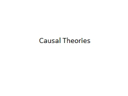 Causal Theories The absurdity of fit