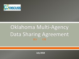Oklahoma Multi-Agency  Data Sharing Agreement