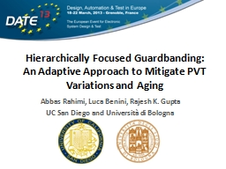 Hierarchically Focused Guardbanding: An Adaptive Approach to Mitigate PVT Variations and Aging