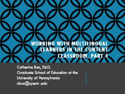 Working with Multilingual Learners in the Content Classroom, Part 4