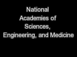 National Academies of Sciences, Engineering, and Medicine