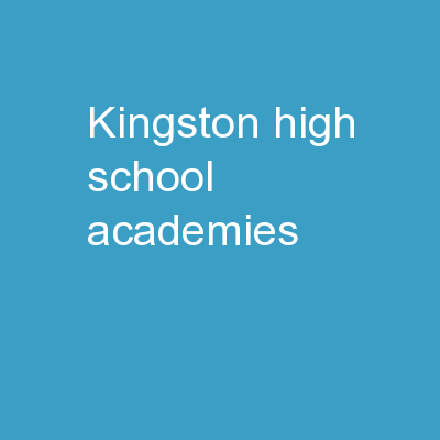 Kingston High School Academies