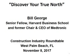 """Discover Your True North"" PowerPoint PPT Presentation"