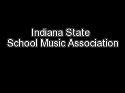 Indiana State School Music Association