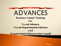 ADVANCES Business Center Training