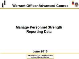 Manage Personnel Strength