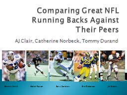 Comparing Great NFL Running Backs Against Their Peers