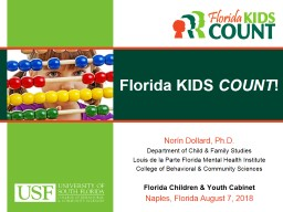 Florida KIDS  COUNT ! Norín PowerPoint PPT Presentation