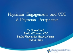 Physician Engagement and CDI: