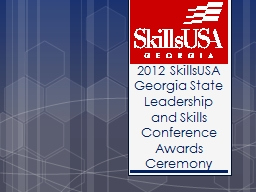 2012 SkillsUSA Georgia State Leadership and Skills Conference Awards Ceremony