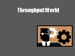 Throughput World Systems Thinking and TOC