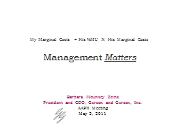 Management  Matters Barbara