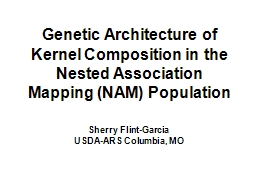 Genetic Architecture of
