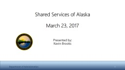 Shared Services of Alaska