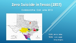 Zero Suicide in Texas (ZEST)