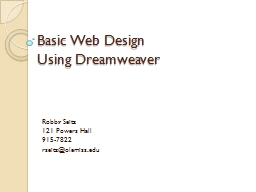 Basic Web Design  Using