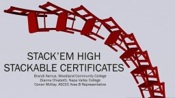 Stack'em  High Stackable Certificates