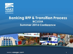 Banking RFP  & Transition Process