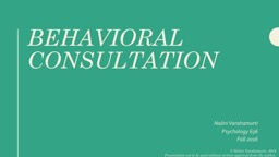 Behavioral Consultation