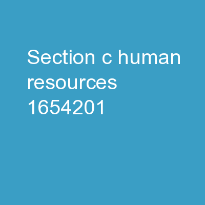 Section C: Human Resources