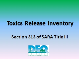 Toxics Release Inventory