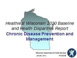 Healthiest Wisconsin 2020 Baseline and Health Disparities Report