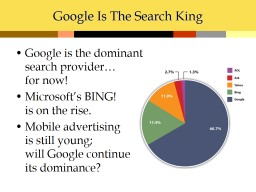 Google Is The Search King