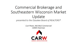 Commercial Brokerage and Southeastern Wisconsin Market Update