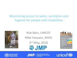 Monitoring access  to water, sanitation and hygiene for