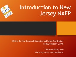 Introduction to New Jersey NAEP