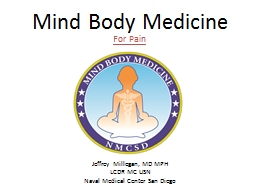 Mind Body Medicine  For Pain