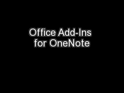 Office Add-Ins for OneNote