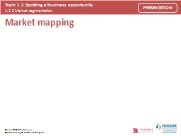 Market mapping Market mapping