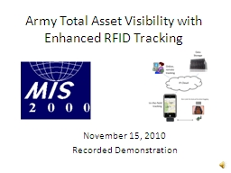 Army Total Asset Visibility with Enhanced RFID Tracking
