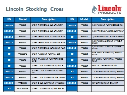 Lincoln Stocking Cross LP#
